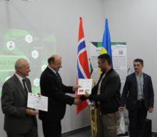 Вручення дипломів учасникам програми перепідготовки військовослужбовців у рамках міжнародного проекту «Україна – Норвегія»