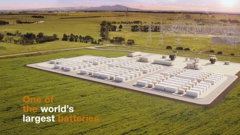Будівництво компанією Tesla системи літій-іонних акумуляторів потужністю в 300 мегават